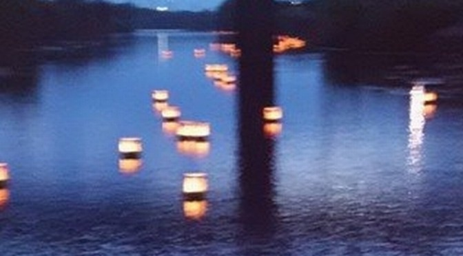 小糸川灯篭流し
