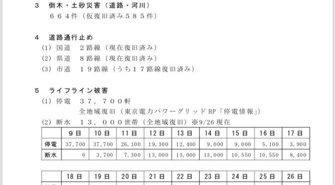 台風15号による君津市内被害状況!
