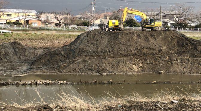 小糸川河川改修工事が始まりました